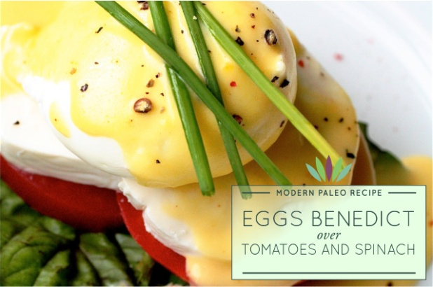 Eggs-Benedict-over-Tomatoes-and-Spinach